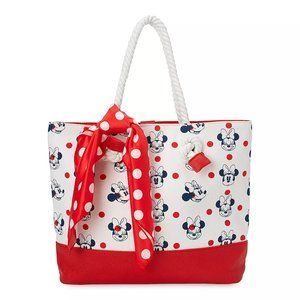 Disney Store Minnie Mouse Nautical Canvas Tote NWT